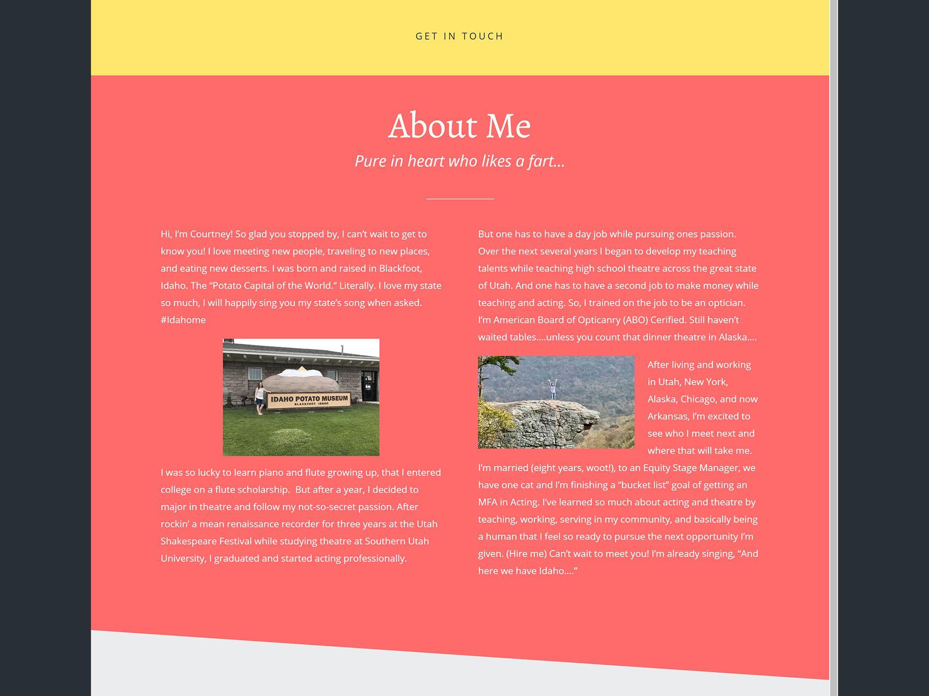 Courtney Jensen Website Home