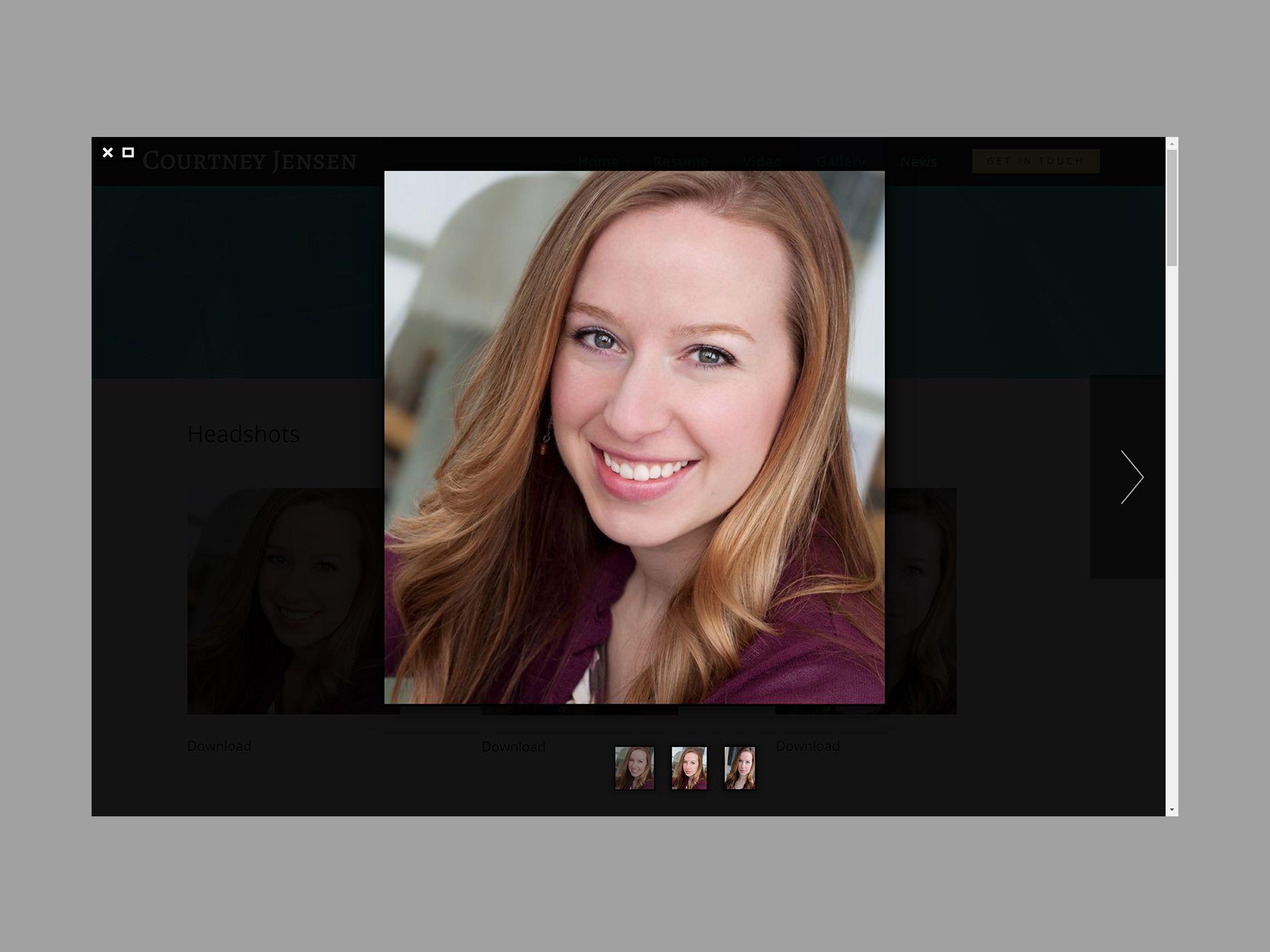 Courtney Jensen Website Lightbox